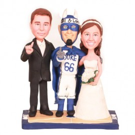 Duke Blue Devils Basketball Wedding Cake Toppers