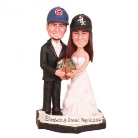 Bride And Groom Basketball Wedding Cake Toppers