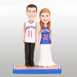 Personalized Bride And Groom Basketball Wedding Cake Toppers