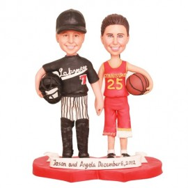 Personalized Basketball And Baseball Wedding Cake Toppers
