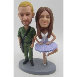 Police and Nurse Wedding Cake Toppers