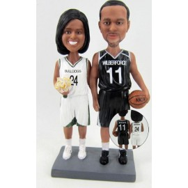 Basketball Bride And Groom Wedding Cake Toppers