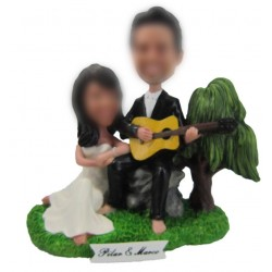 Rock Music Wedding Cake Toppers