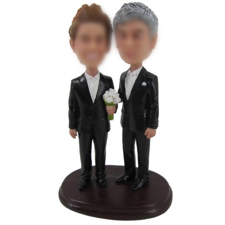Gay Red Bull Wedding Cake Toppers
