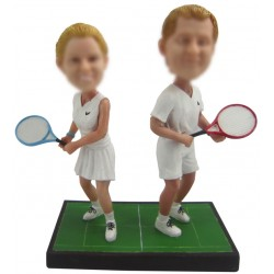 Personalized Tennis Bride And Groom Wedding Cake Toppers
