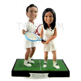 Tennis Bride And Groom Wedding Cake Toppers