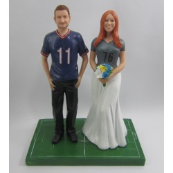 Custom Basketball Wedding Cake Topper