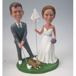 Personalised Football Themed Wedding Cake Toppers