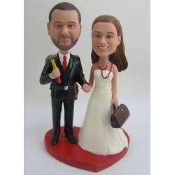 Handmade Office Staff Cake Toppers