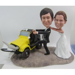 Country Farm Wedding Cake Topper