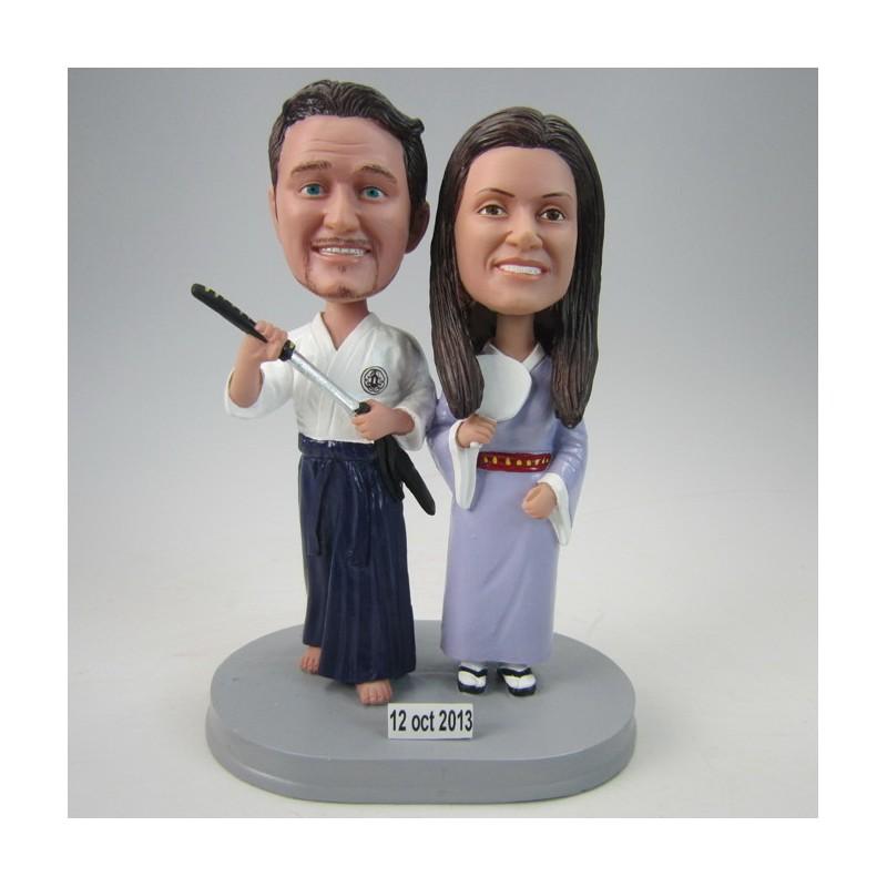 Custom Martial Arts Wedding Cake Toppers