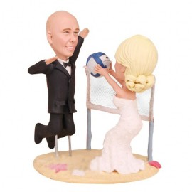 Volleyball Wedding Cake Toppers