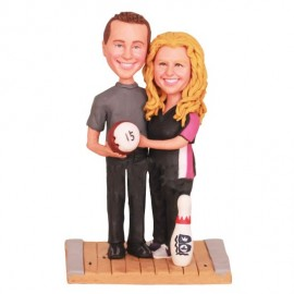 Bowling Wedding Cake Toppers