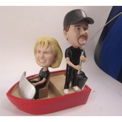 Funny Fishing Wedding Cake Toppers