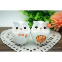 Funny Owl Wedding Cake Toppers Fall Themed