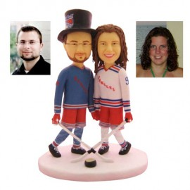 Personalised Ice Hockey Wedding Cake Toppers Bride And Groom