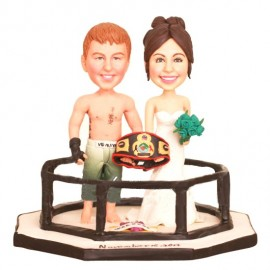 Boxing Wedding Cake Toppers