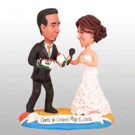 Boxing Boxer And Singer Wedding Cake Toppers