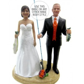 Fishing Wedding Cake Toppers