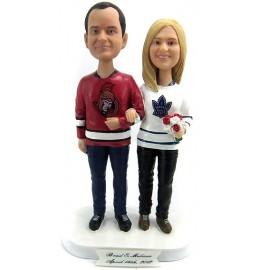 Personalised Birde And Groom Hockey Wedding Cake Toppers