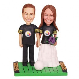 Pittsburgh Steelers Football Wedding Cake Toppers