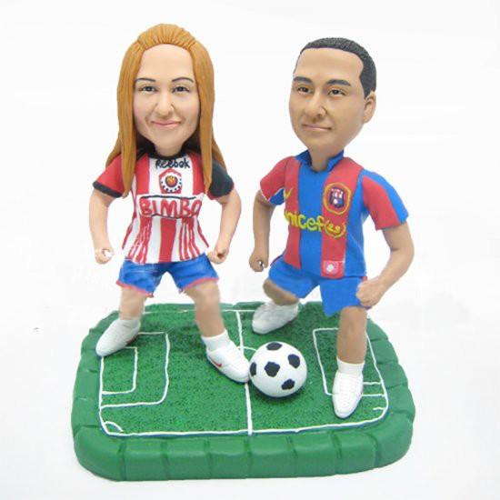 Soccer Wedding Cake Toppers