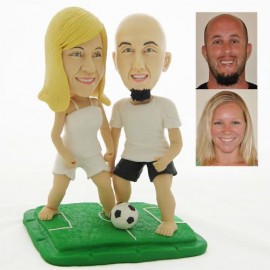 Bride And Groom Soccer Wedding Cake Toppers