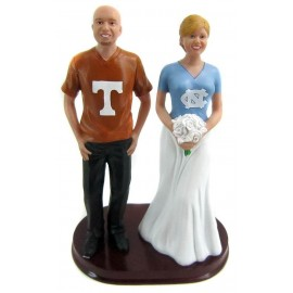 Bride And Groom Football Wedding Cake Toppers