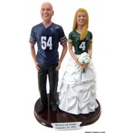 Football Fans Wedding Cake Toppers
