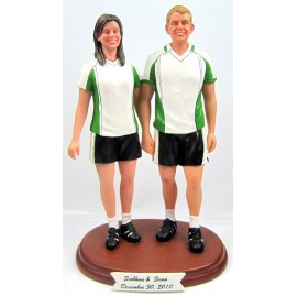 Soccer Themed Wedding Cake Toppers