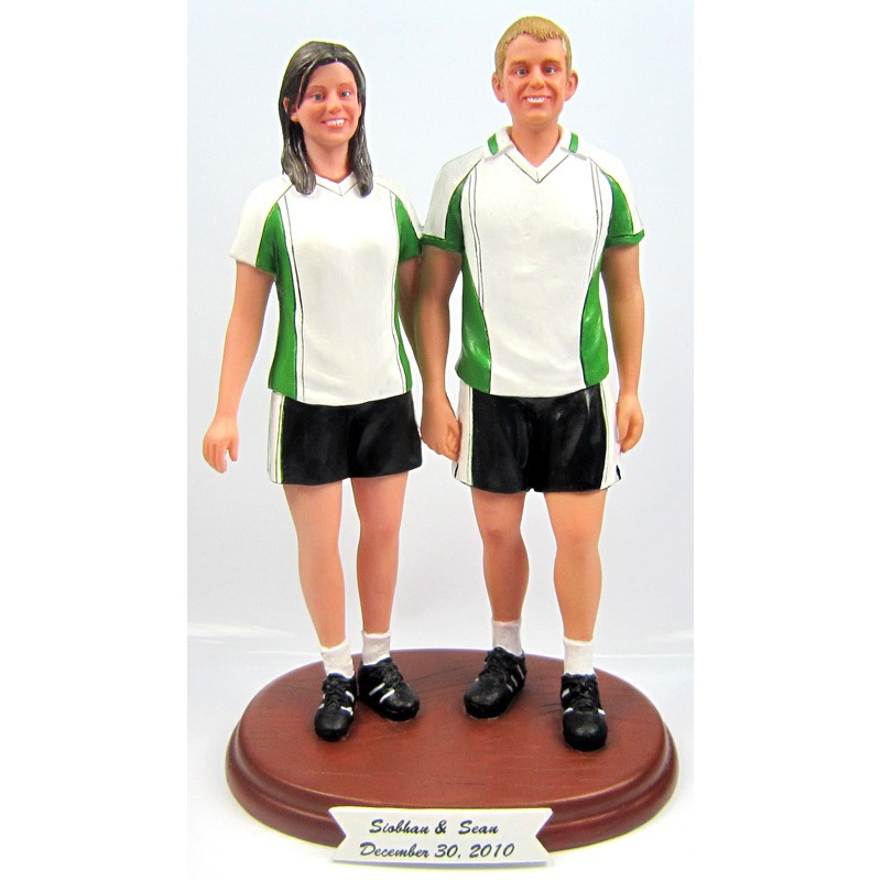 Soccer Themed Wedding Cake Toppers