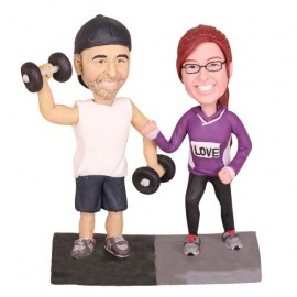 Weightlifting Wedding Cake Toppers