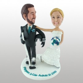 Ice Skate Wedding Cake Toppers
