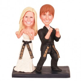 Custom Martial Arts Wedding Cake Toppers