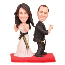 Martial Arts Wedding Cake Toppers