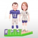 Personalised Football Wedding Cake Toppers Bride And Groom