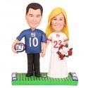 Custom New York Giants Football Wedding Cake Toppers Bride And Groom