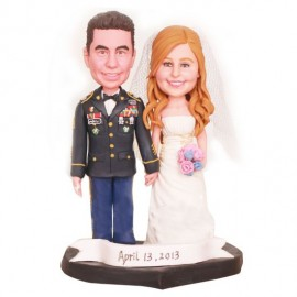 US Army Military Wedding Cake Toppers