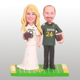 Personalised Oregon Ducks Football Wedding Cake Toppers Bride And Groom