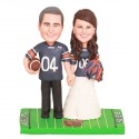 Unique Auburn Tigers Football Wedding Cake Toppers Bride And Groom
