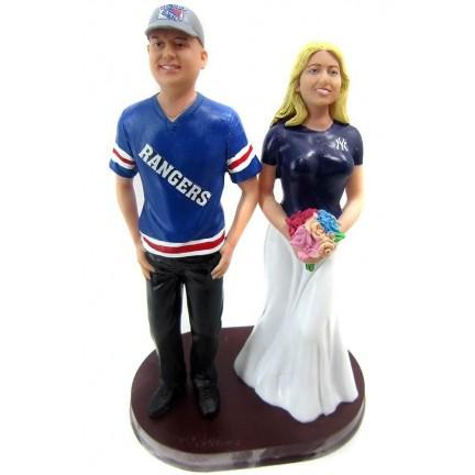Unique Football Wedding Cake Toppers Bride And Groom
