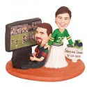 Personalised Funny Football Wedding Cake Toppers Ball And Chain