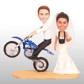 Funny Motorcycle Wedding Cake Toppers