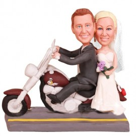 Harley Davidson Wedding Cake Topper