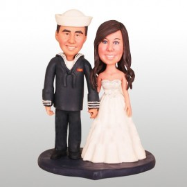 US Navy Military Wedding Cake Toppers