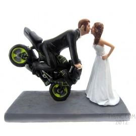 Dirt Bike Wedding Cake Toppers