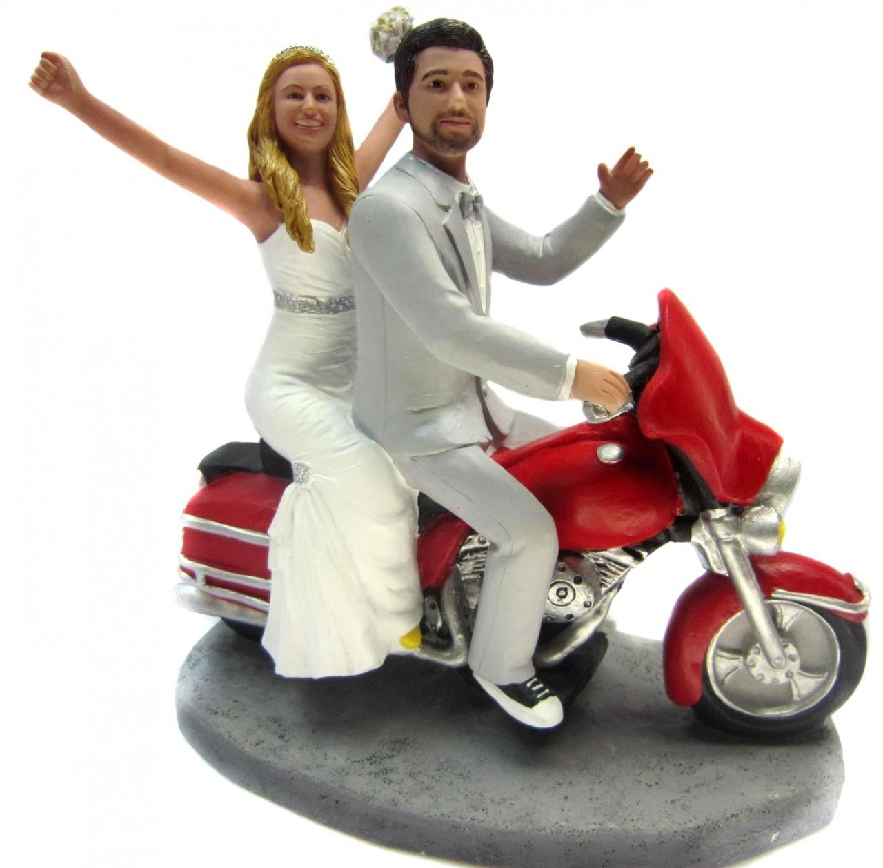 Harley Davidson Wedding Cake Topper Acrylic custom glitter