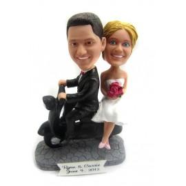 Motorbike Wedding Cake Toppers