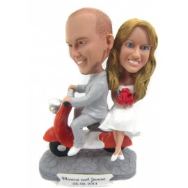 Scooter Wedding Cake Toppers