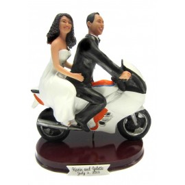 Motorcycle Wedding Cake Toppers